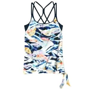 Athleta Vivid Side Swim Tank/Tankini Top M
